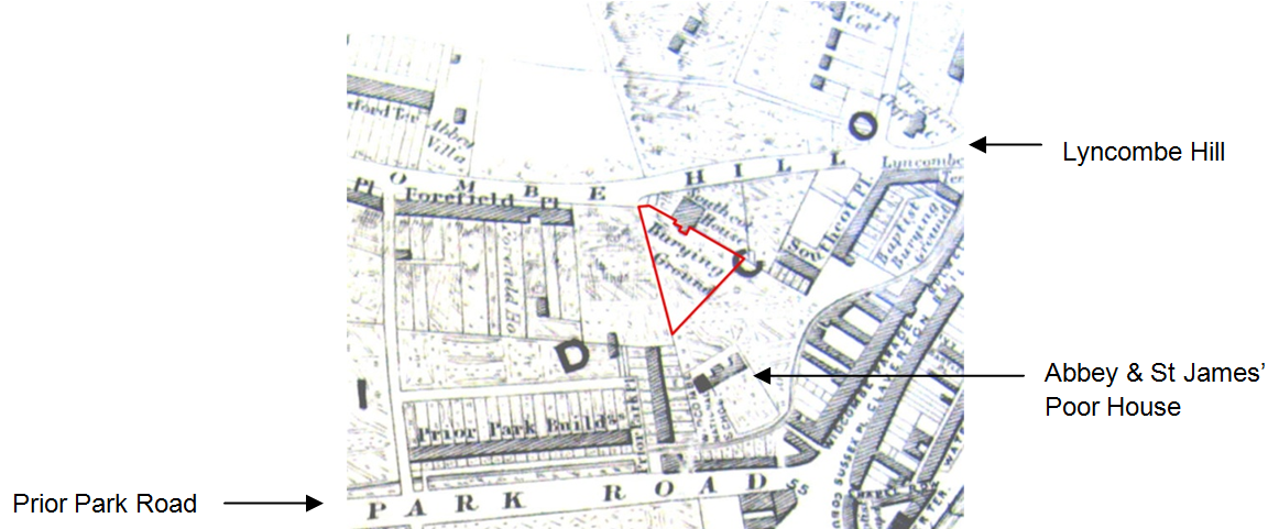 Location of the graveyard from the Cotterell map of 1852.png