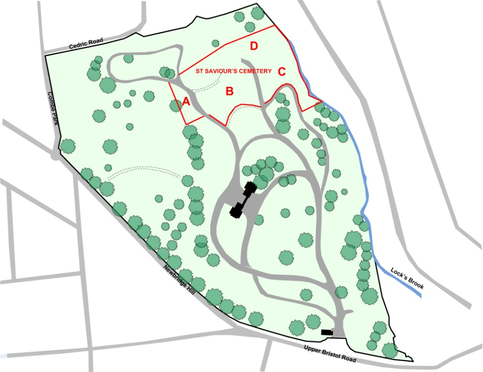 Overall Layout with the area or St Saviour's Cemetery Within Locksbrook Cemetery.jpg