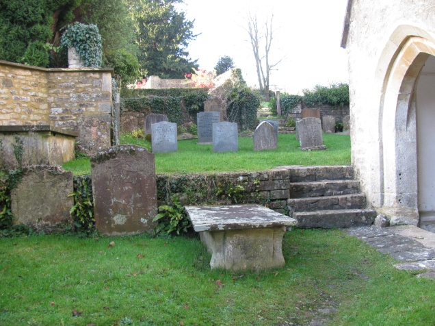 memorials near the church's door.jpg