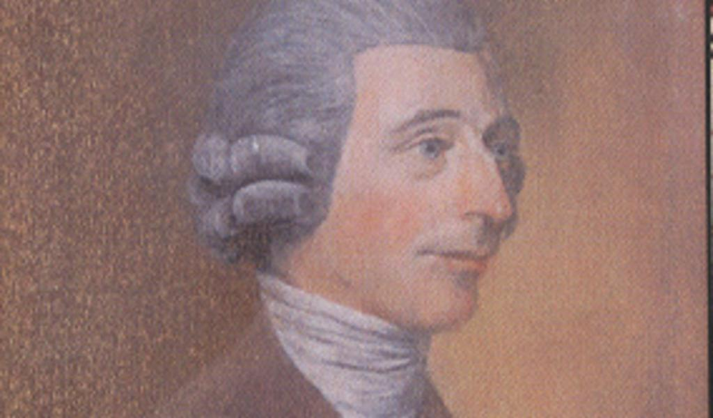 Portrait of Edmund Rack (picture in the possession of the Royal Bath and West of England Society)