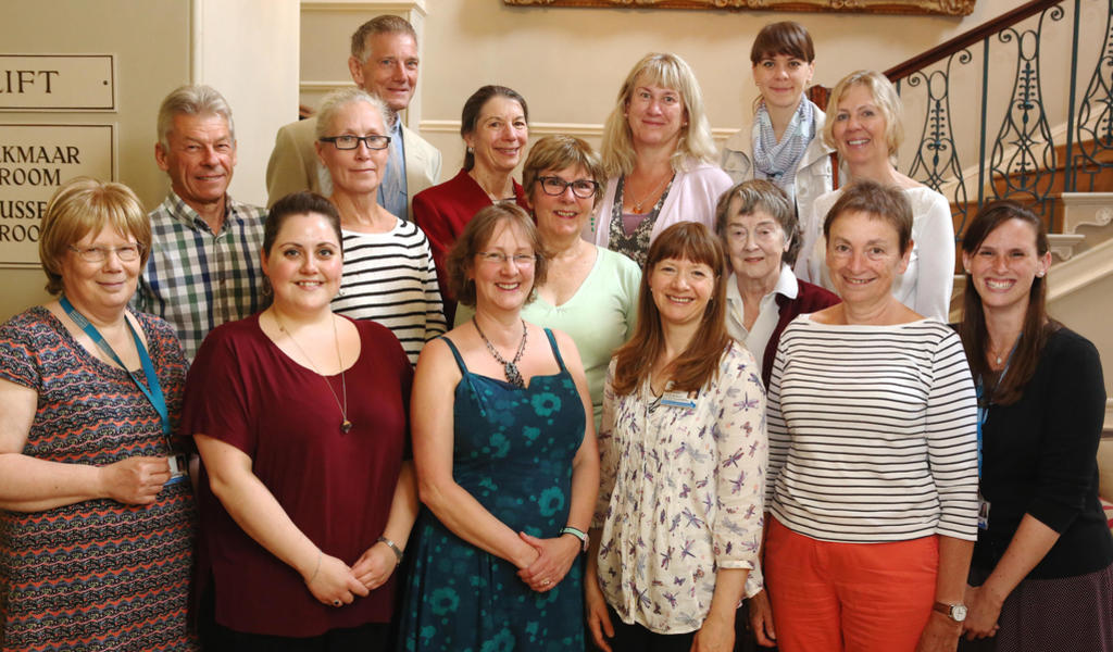 Image: Staff and volunteers at Bath Record Office