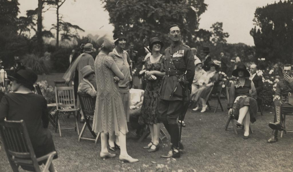 Photograph of a wedding in the 1930s