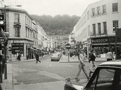 Photograph of Southgate Street, Bath, looking towards Beechen Cliff, before the building of the shopping centre (ref. PX4599)
