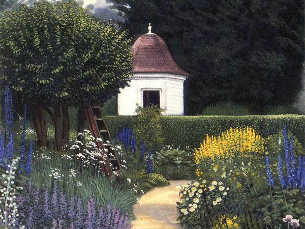 A summer garden at the American Museum in Bath