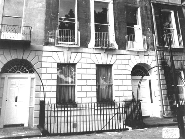 Black and white photograph of 27 Green Park Buildings
