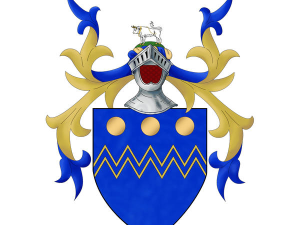 The Arms and Crest of Rivers, granted 1583